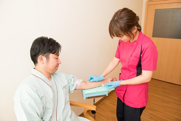 血液 : 血液検査18項目 (男性のみPSA追加)