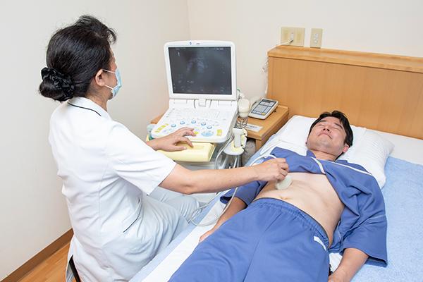 腹部 : 腹部超音波検査