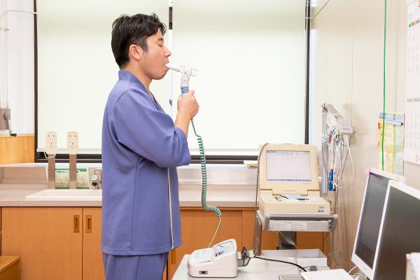 呼吸器 : 胸部X線(直接)・<s>肺機能検査</s>(中止)